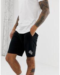 French Connection - Short en jersey avec logo crit - Lyst