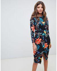 Closet - Draped Wrap Front Dress - Lyst