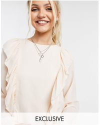 In The Style - Exclusive Ruffle Detail Top - Lyst