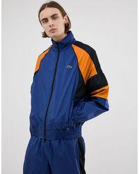 Lacoste Темно-синяя Спортивная Куртка В Стиле Ретро L!ve Nylon-темно-синий