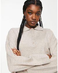 Weekday Monique - Pull avec col - Beige - Multicolore