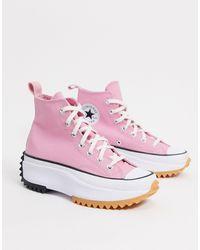 Converse Run Star Hike - Hoge Sneakers - Roze