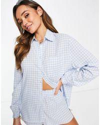 Fashion Union Beach Shirt Co-ord - Blue