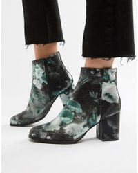 Vero Moda - Floral Ankle Boots - Lyst
