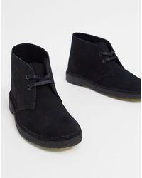 Clarks Desert boots en daim - Noir