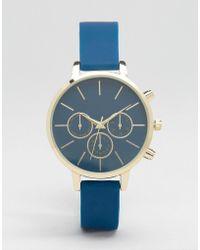 New Look - Soft Strap Watch - Blue - Lyst
