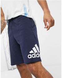 adidas Originals - Темно-синие Шорты С Логотипом Adidas Training-темно-синий - Lyst