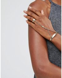 Low Luv by Erin Wasson - Gold Plated Ring And Hand Harness - Lyst