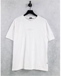 Dr. Denim Trooper - T-shirt - Blanc