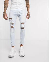 Bershka – Besonders enge Jeans - Weiß