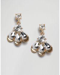 Little Mistress - Crystal Drop Earrings - Lyst