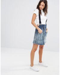 G-Star RAW Dadin Tailored Braces A-line Skirt - Blue