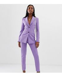ASOS Asos Design Tall Pop Slim Suit Trousers - Purple