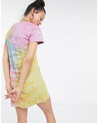 Love Moschino Разноцветное Платье Мини С Принтом Тай-дай С Логотипом -многоцветный