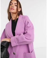 Palones Длинное Пальто Лавандового Цвета С Присборенными Рукавами -фиолетовый Цвет - Пурпурный
