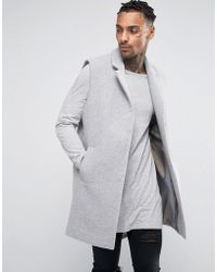 Black Kaviar - Sleevess Overcoat In Wool - Lyst