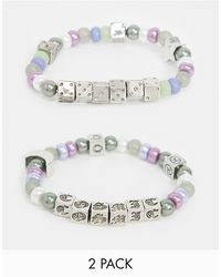 ASOS Beaded Bracelet Pack - Multicolour