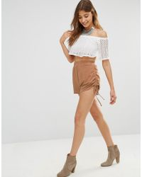 Oh My Love - Ruched Side Shorts - Lyst
