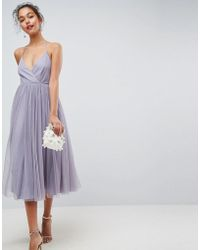 ASOS DESIGN - Asos Pinny Extreme Tulle Mesh Midi Dress - Lyst