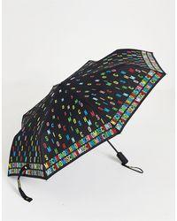 Moschino Зонт С Буквами Логотипа -черный Цвет