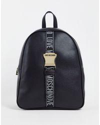 Love Moschino Черный Рюкзак С Логотипом Safety-черный Цвет