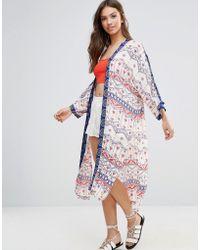 MINKPINK - Printed Maxi Kimono - Lyst
