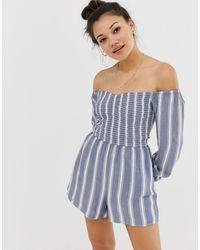 Hollister Playsuit Stripe - Blue