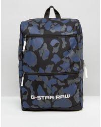 G-Star RAW Barran Camo Backpack - Blue