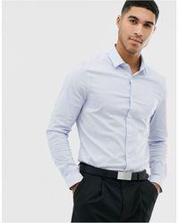 ASOS Slim Fit Light Blue Stripe Shirt