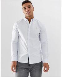 Farah Brewer Slim Fit Stripe Oxford Shirt - Multicolor