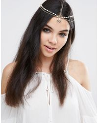 Pieces - Festival Chain Head Harness - Lyst