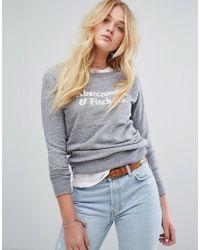 Abercrombie & Fitch Logo Sweatshirt - Gray