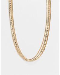 Accessorize Золотистое Ярусное Ожерелье -золотистый - Металлик