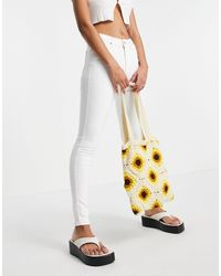 TOPSHOP Recycled Cotton Blend Jamie Jean - White