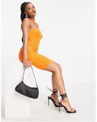 Fashionkilla Vestito corto con cut-out arancione