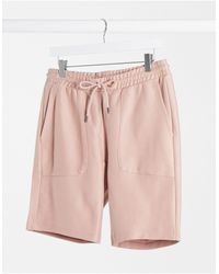TOPMAN Jersey Shorts - Pink