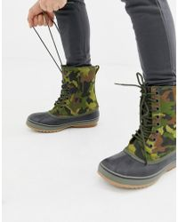 Sorel 1964 Premium Boots In Camo - Green