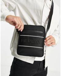 Replay Crossbody Tas Met Logo - Zwart