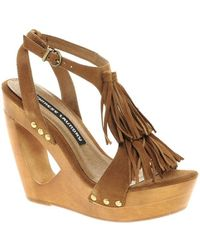 Chinese Laundry Undercover Heeled Sandals - Brown
