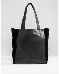 Warehouse - Leather Unlined Shopper - Lyst