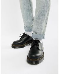 Dr. Martens 1461 Bex Platform 3-eye Shoes - Black