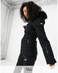 ASOS 4505 Tall - Giacca da sci con cappuccio - Nero
