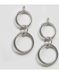 Regal Rose | Double Ring Earrings | Lyst
