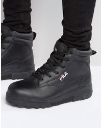 Fila Grunge Mid Laceup Boots - Black