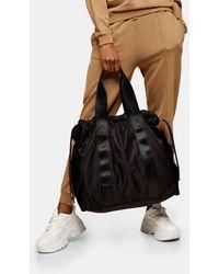 TOPSHOP Drawstring Tote Bag - Black