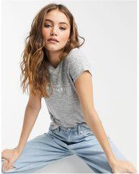 Abercrombie & Fitch T-shirt confort à manches courtes avec logo - Gris