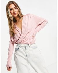 Chi Chi London Wrap Lounge Co-ord Top - Pink