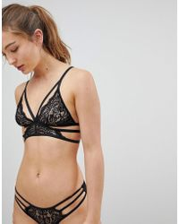 New Look - Strapping Lace Bralet - Lyst