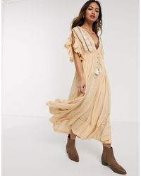 Free People Will Wait For Midi Dress - Natural