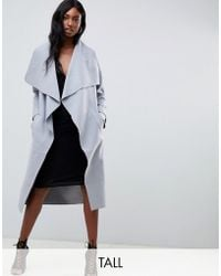 Missguided - Waterfall Coat - Lyst